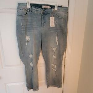Distressed Crop Jeans